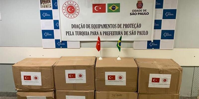 Türkiye'den Brezilya'ya maske desteği