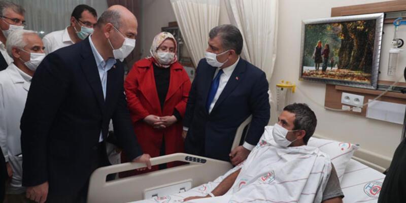 3 bakandan yaralılara ziyaret