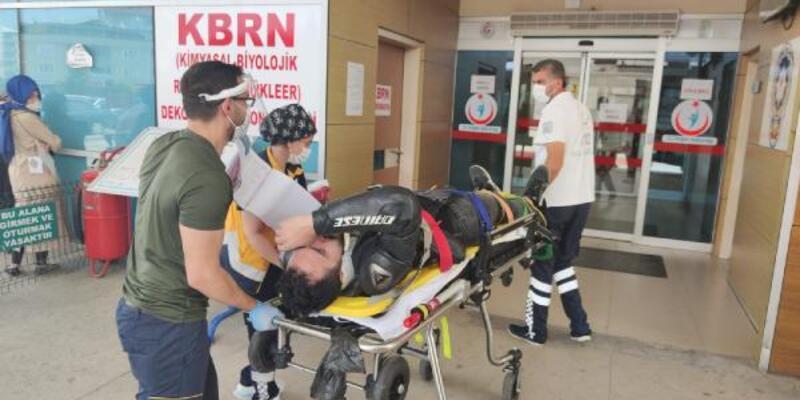 Motosiklet aldıktan 2 saat sonra kaza yaptı
