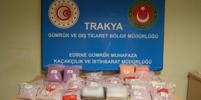 Son dakika... Kapıkule'de, 4 milyon 750 bin liralık uyuşturucu ele geçirildi