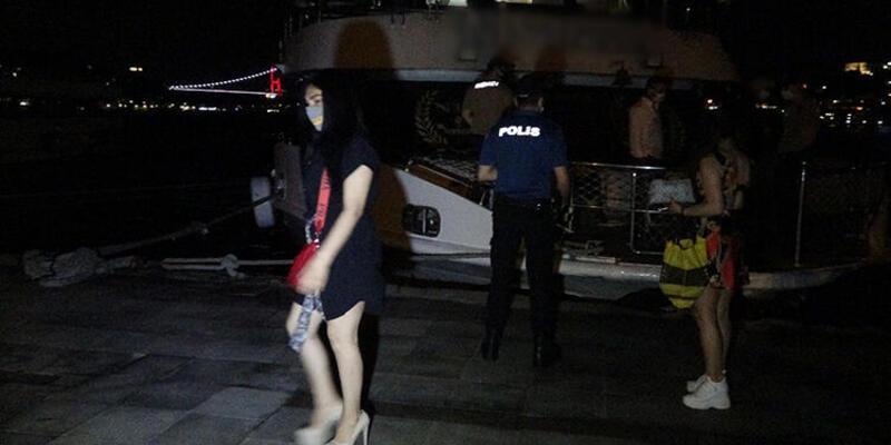 Bebek'te yat partisine polis baskını!