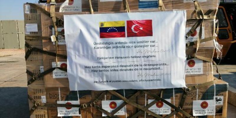 Son dakika... Türkiye'den Venezuela'ya tıbbi malzeme yardımı
