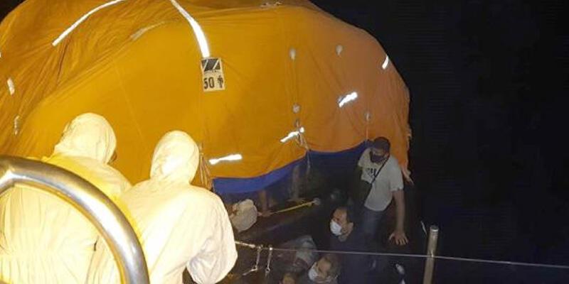 Yunanistan'ın geri ittiği 37 göçmen kurtarıldı