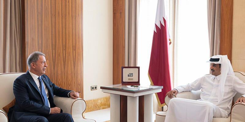 Katar Emiri, Milli Savunma Bakanı Akar ile görüştü