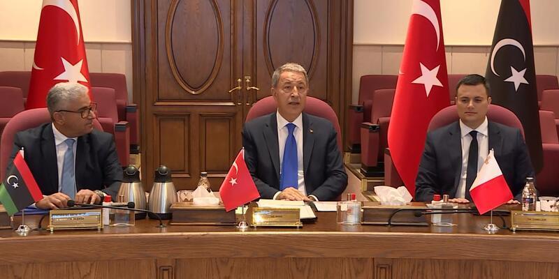 Son dakika... Ankara'da Libya için üçlü toplantı