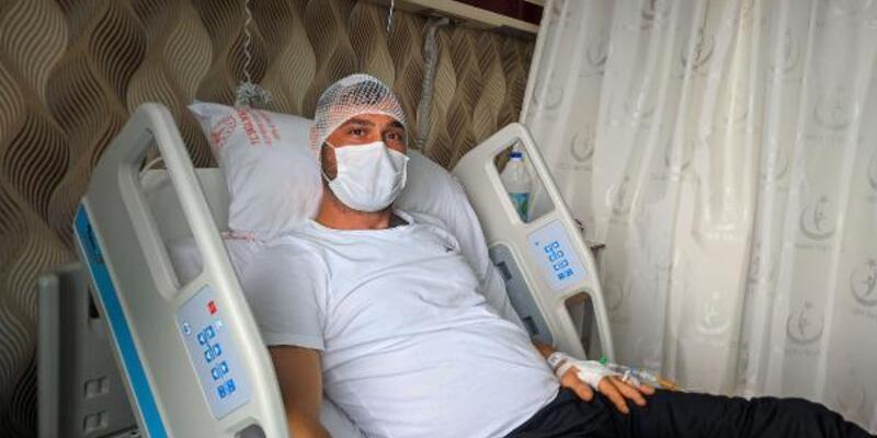 Başına yorgun mermi isabet eden tekniker: Hayatım 2 milimetreyle kurtuldu