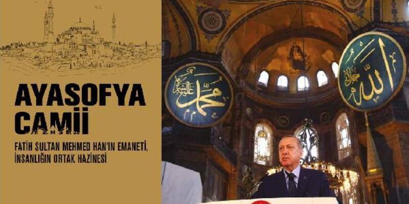 """""""Ayasofya Camii"""" kitabı açılışa gelenlere dağıtıldı"""