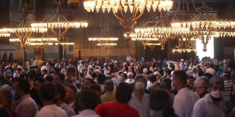 Ayasofya Camii'nde ikindi namazı kılındı