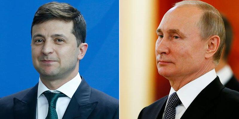 Zelenskiy, Putin ile Ukrayna krizini görüştü