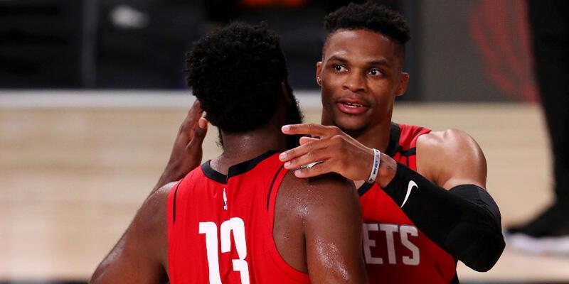 Harden ve Westbrook galibiyeti getirdi