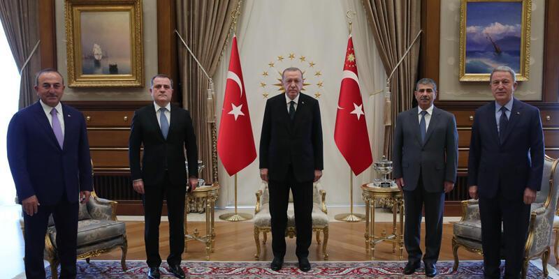 Son dakika... Cumhurbaşkanı Erdoğan, Azerbaycan Dışişleri Bakanı Bayramov'u kabul etti