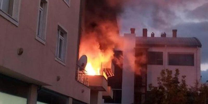 Bolu'da bir evde çıkan yangın korkuttu
