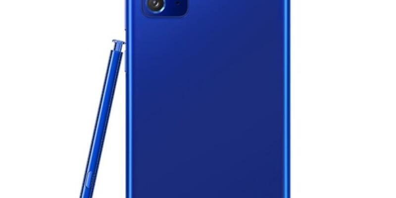 Galaxy Note 20 bu sefer de mavi renk seçeneği ile görüntülendi