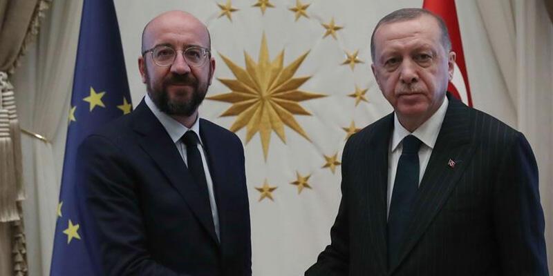 Son dakika haberi: Cumhurbaşkanı Erdoğan, AB Konseyi Başkanı ile görüştü