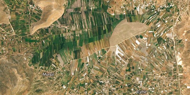 Son dakika... NASA, Antalya dağlarındaki tarım arazilerinin fotoğrafını paylaştı