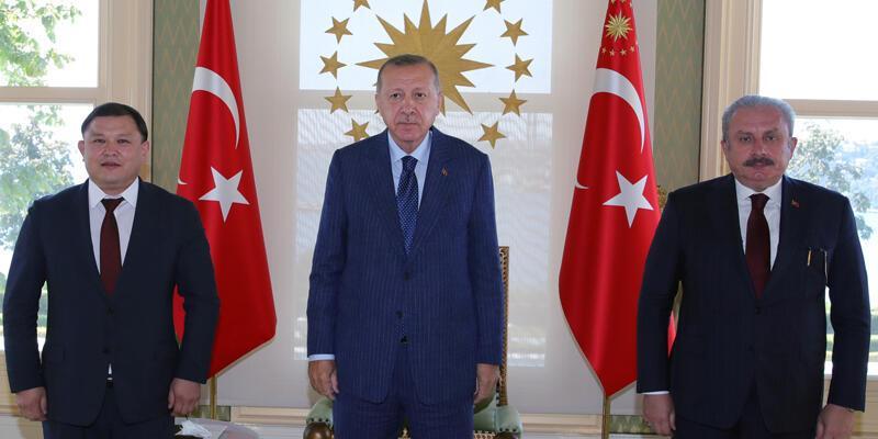 Son dakika... Cumhurbaşkanı Erdoğan Kırgızistan Meclis Başkanı Cumabekov'u kabul etti