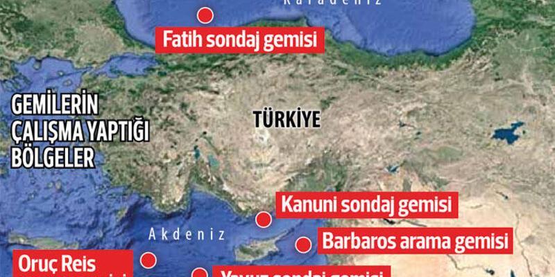 Türkiye 3 sondaj, 2 sismik araştırma gemisiyle faaliyetlerini sürdürüyor