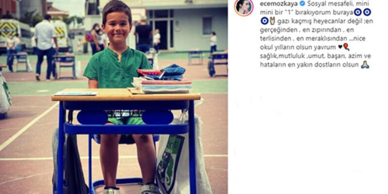 Mustafa Üstündağ ile Ecem Özkaya'dan okulun ilk günü paylaşımı