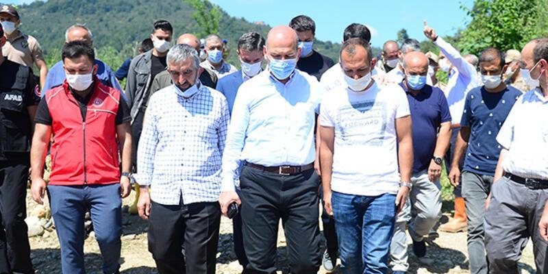 İçişleri Bakanı Soylu, Tirebolu'da incelemelerde bulundu