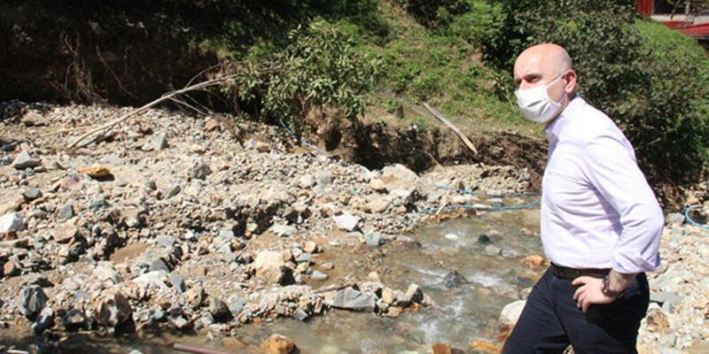 Bakan Karaismailoğlu sel bölgesinde