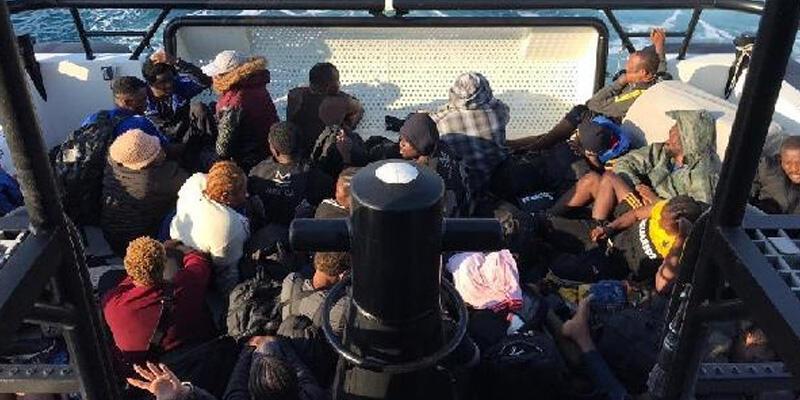 Marmaris'te 41 kaçak göçmen kurtarıldı