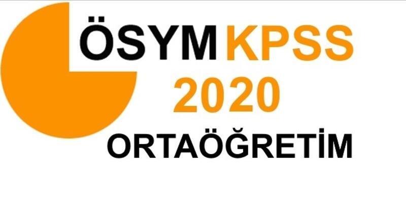 2020 KPSS Ortaöğretim başvuruları ne zaman başlayacak, sınav ne zaman yapılacak?