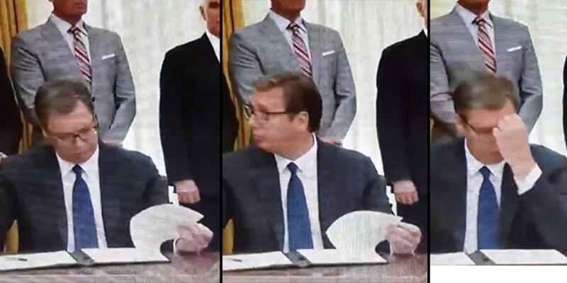 Okumadan mı imzaladı? Trump konuşma yaparken olay tepki