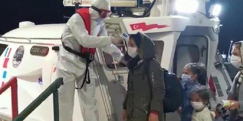 Aydın'da 16 kaçak göçmen kurtarıldı