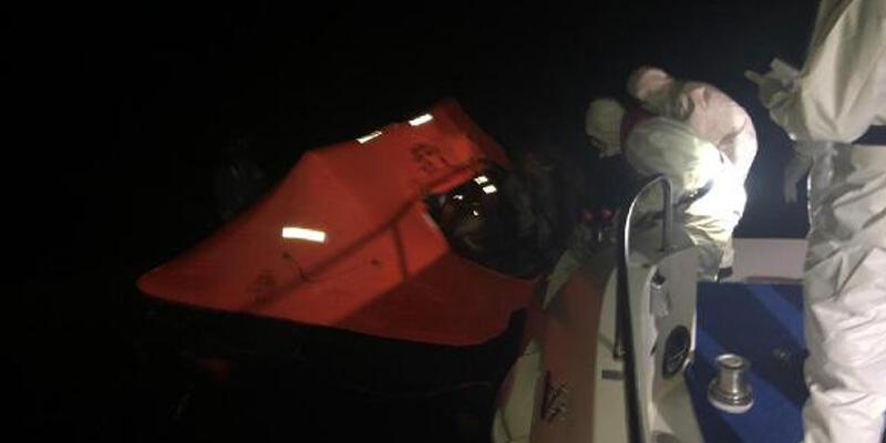 Çeşme'de 9 kaçak göçmen kurtarıldı