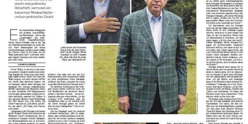 Son dakika... Cumhurbaşkanı Erdoğan'ın 'ekose ceketleri' Alman gazetesinde