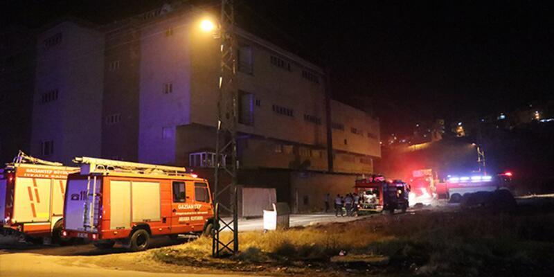 Gaziantep'te ayakkabı fabrikasında yangın