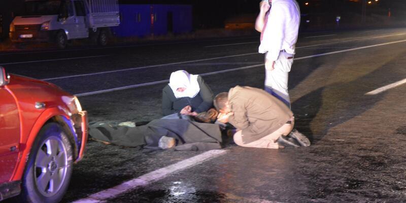 Karşıya geçerken otomobil çarptı! Hayatını kaybetti