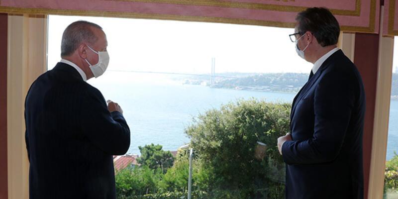 Cumhurbaşkanı Erdoğan, Sırbistan Cumhurbaşkanı Aleksandar Vucic'i kabul etti