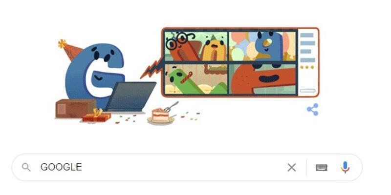 Google kuruluşunun yıl dönümünde kendisini doodle yaptı! Google ne zaman kuruldu?
