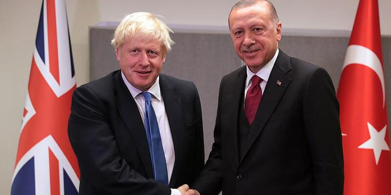 Son dakika haberi: Cumhurbaşkanı Erdoğan, Boris Johnson ile görüştü