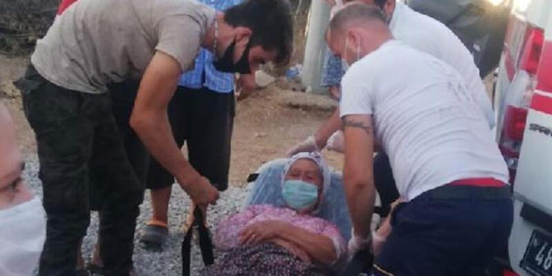 Sokak köpeğinin saldırısına uğrayan yaşlı kadın canını zor kurtardı