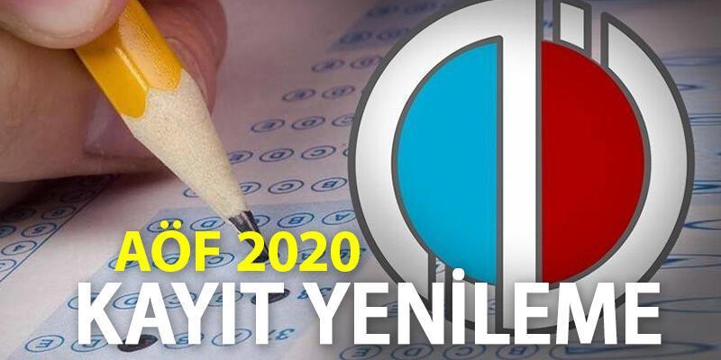 2020 AÖF kayıt yenileme nasıl yapılır? (Açık Öğretim Fakültesi kayıtları)