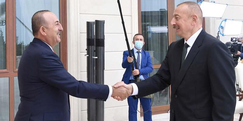 Son dakika... Bakan Çavuşoğlu, Azerbaycan Cumhurbaşkanı Aliyev ile bir araya geldi