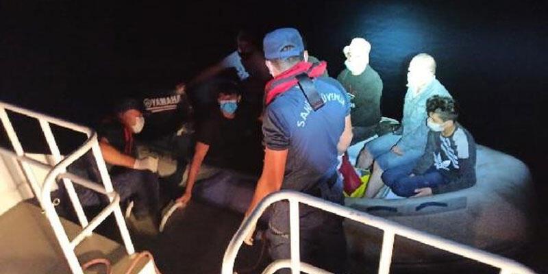 Marmaris ve Datça'da 24 kaçak göçmen kurtarıldı