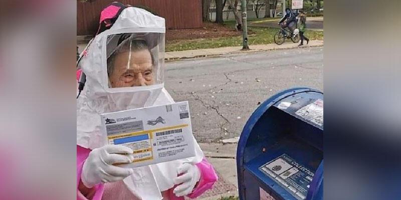 102 yaşındaki ABD'li Bea Lumpkin postayla başkanlık seçimi oyunu kullandı