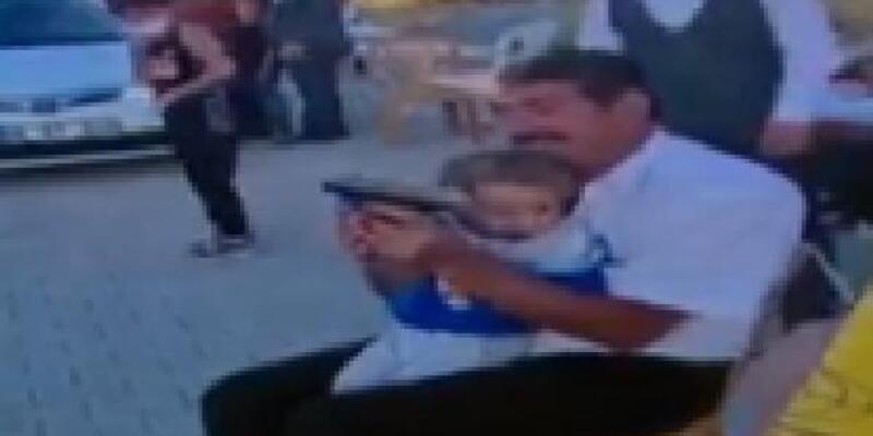 Torununa silahla ateş ettiren dede, gözaltına alındı