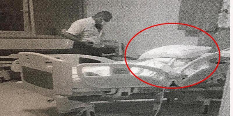 Hastane odasında boğmaya çalışırken yakalandı