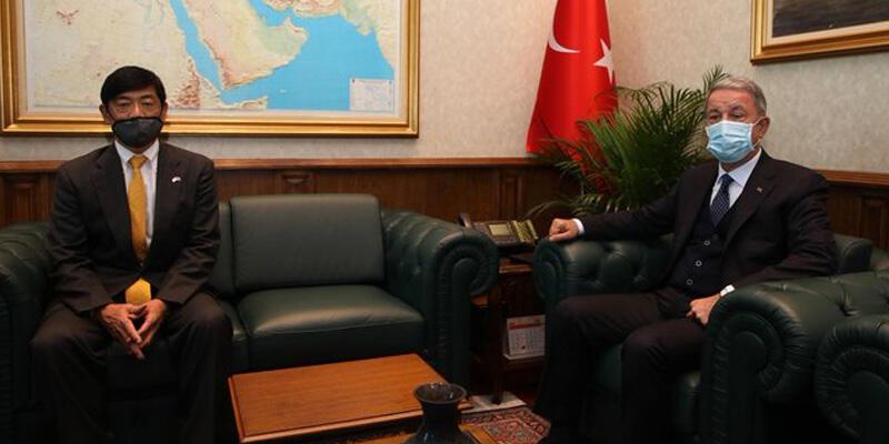 Milli Savunma Bakanı Akar, Japonya'nın Ankara Büyükelçisi Akio ile görüştü