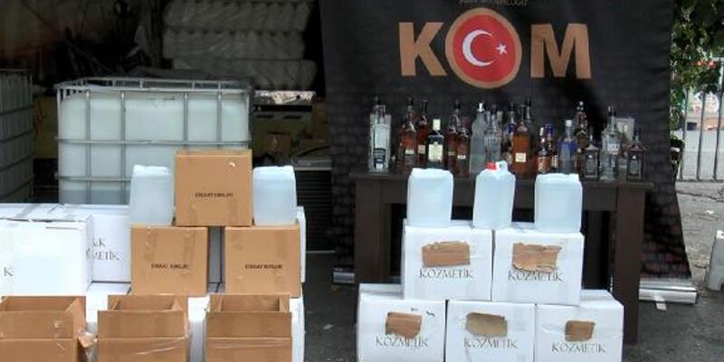 İstanbul'da 6 ton kaçak alkol ele geçirildi
