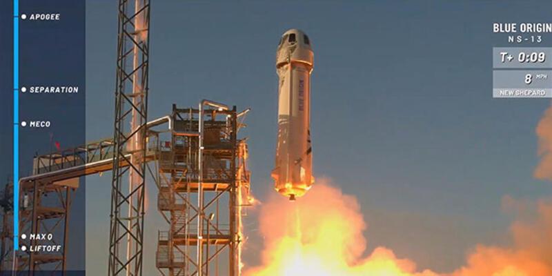 Jeff Bezos'tan uzay hamlesi! Deneme uçuşu gerçekleşti