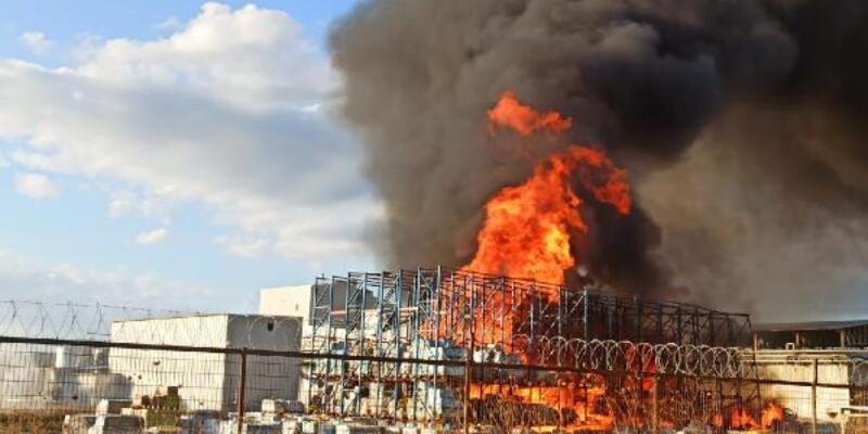Ayvalık'ta yağ fabrikasında yangın