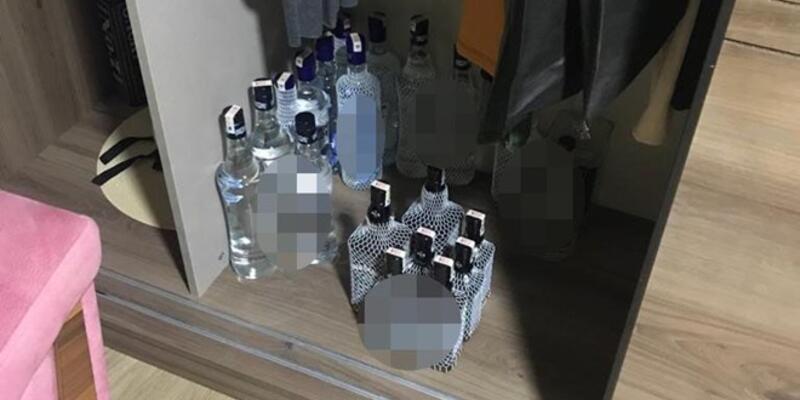 Manisa'da 10 bin litre sahte içki