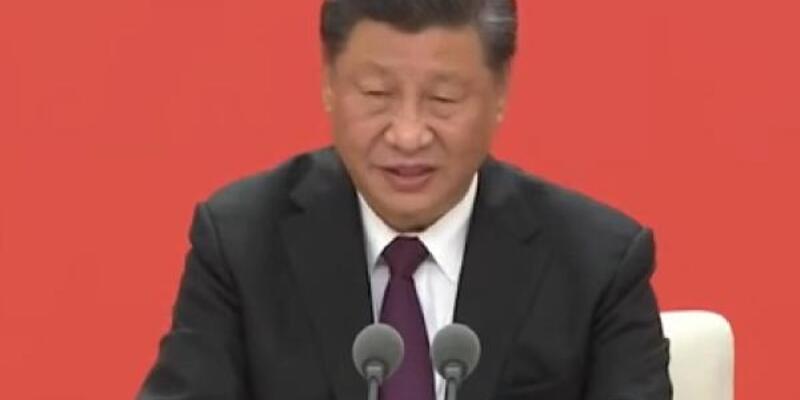 Çin Devlet Başkanı Şi'yi konuşurken öksürük tuttu
