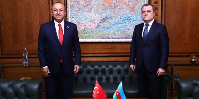 Son dakika haberi... Bakan Çavuşoğlu, Azerbaycanlı mevkidaşıyla görüştü