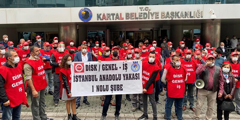 Kartal'da belediye işçilerinden grev kararı